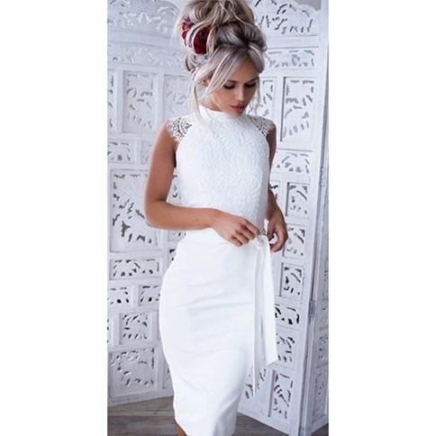 Sukienki ołówkowe, wiosna 2020 w Domodi