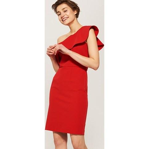 09143e0627 Czerwona sukienka koktajlowa