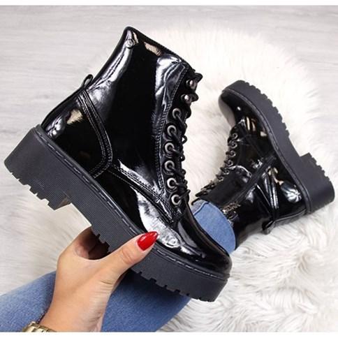 buty damskie młodzieżowe na zimę glany