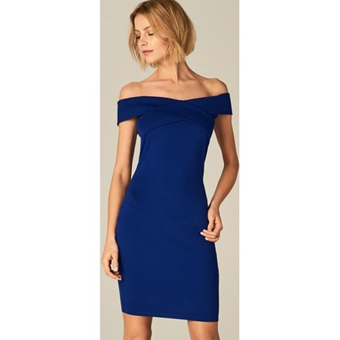 piękne sukienki młodziezowe w kolorze modrak 2019