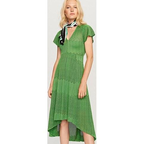 ab84dfb03520 Zielona sukienka z koronki