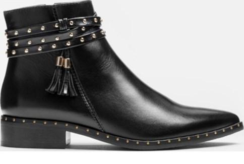 Buty damskie, skórzane, na obcasie, płaskie | Mivo