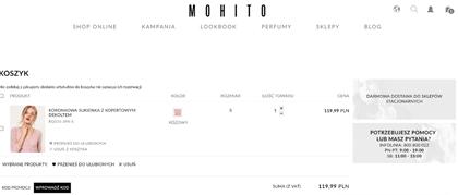 mohito - kod rabatowy