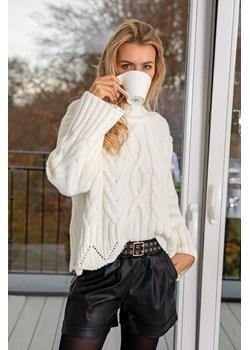 Sweter EVITA one size white Maravilla Boutique Maravilla Boutique  - kod rabatowy