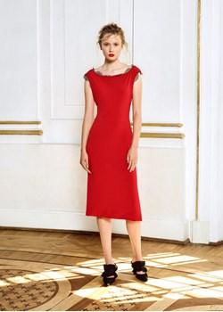 Sukienka Luiza / czerwony & szary Izabela Lapinska - kod rabatowy