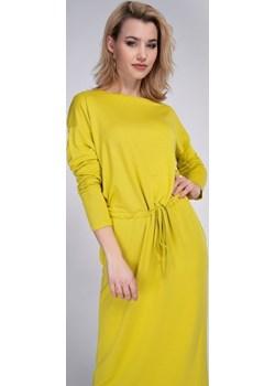 Długa sukienka limonkowa Cotton Club Cotton Club - kod rabatowy