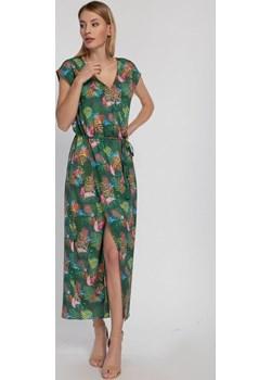 Sukienka maxi w tropilany wzór z chwostami Cotton Club Cotton Club - kod rabatowy