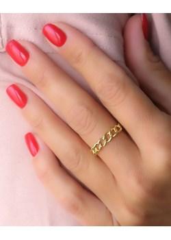 Złoty pierścionek/ obrączka pancerka- srebro 925 pozłacane 14 (17,2mm) promocja coccola.pl - kod rabatowy