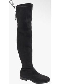 Czarne kozaki graceland za kolano na niskim obcasie Graceland Deichmann - kod rabatowy