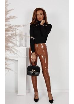 Leginsy lateksowe spodnie La Manuel camel Shopaholics Dream SHOPAHOLIC`S DREAM - kod rabatowy