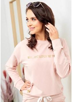 Bawełniana bluza - pudrowy róż Beewear - kod rabatowy
