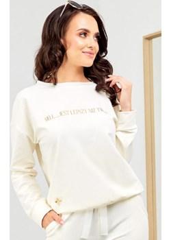 Bawełniana bluza - kremowa Beewear - kod rabatowy