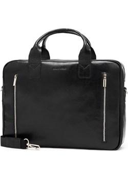 Skórzana torba na ramię teczka brodrene R02 czarna Brødrene Brodrene - kod rabatowy
