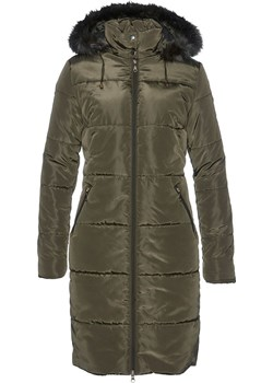 Krótki płaszcz pikowany z kapturem ze sztucznym futerkiem | bonprix bonprx - Allani - kod rabatowy