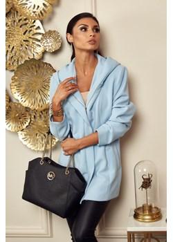 Płaszcz Michelle - błękit Marconifashion - kod rabatowy