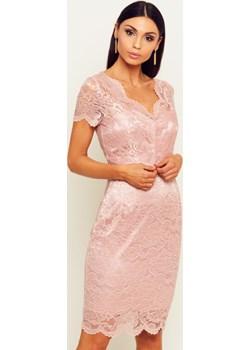Sukienka Maja - pudrowy róż Marconifashion - kod rabatowy