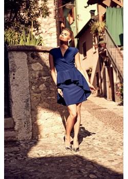 Sukienka Simona - granatowa Marconifashion - kod rabatowy