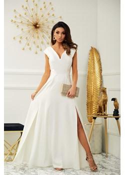 Sukienka Milena - ecru Marconifashion - kod rabatowy