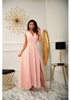 Sukienka Milena - pudrowy róż Marconifashion - kod rabatowy