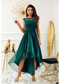 sukienka Claire butelkowa zieleń Marconifashion - kod rabatowy