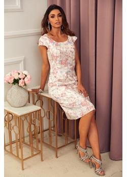 sukienka Sofia - brudny róż Marconifashion - kod rabatowy
