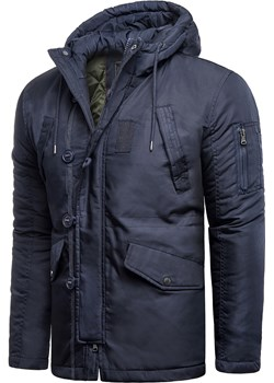Męska kurtka zimowa SP819 - khaki Risardi okazja Risardi - kod rabatowy
