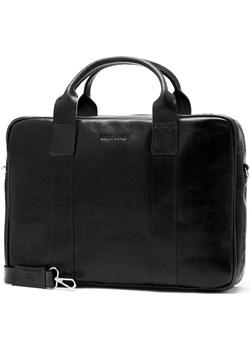 Męska torba na laptop ze skóry naturalnej Brodrene R01 czarna Brødrene Brodrene - kod rabatowy