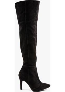Czarne kozaki damskie skórzane 2791/E12 okazyjna cena Oleksy - producent obuwia - kod rabatowy