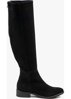 Czarne kozaki damskie skórzane 2794/147 wyprzedaż Oleksy - producent obuwia - kod rabatowy