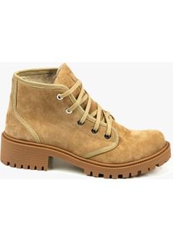 Beżowe trapery damskie skórzane 3220/F37 Oleksy - producent obuwia - kod rabatowy