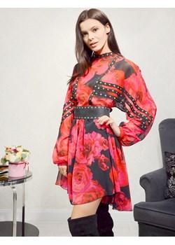 Sukienka w kwiaty Babylon Glamwear - kod rabatowy