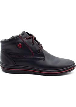 Zimowe buty męskie 339 czarne Polbut butyolivier - kod rabatowy