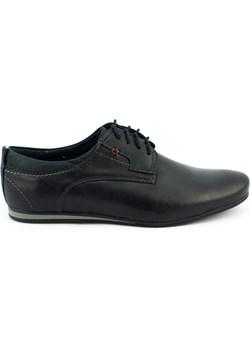 Eleganckie buty męskie do jeansów 731 czarne Mario Pala butyolivier - kod rabatowy