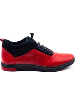 Buty męskie zimowe K27F czerwone Polbut wyprzedaż butyolivier - kod rabatowy