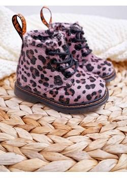 Dziecięce Botki z Suwakiem Różowe W Panterkę Lilo - 19 stylowemarki24.pl - kod rabatowy