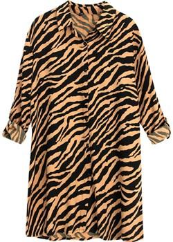 Luźna koszulowa bluzka w zebrę promocja kafrim.pl - kod rabatowy