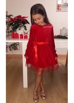 Sukienka welurowa Maya dla dziewczynki Vanilove - kod rabatowy