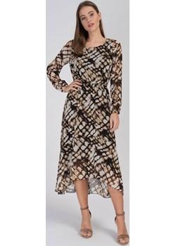 Wzorzysta sukienka szyfonowa Cotton Club Cotton Club - kod rabatowy