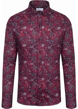Koszula męska we wzory Bordowa Rokado Milan Rokado Rokado - kod rabatowy