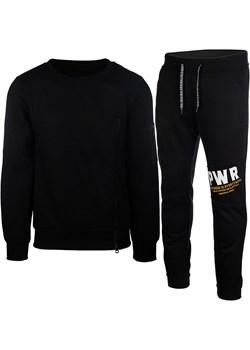 Dres Męski Komplet Dresowy Bluza bez Kaptura i Spodnie K57 Czarny Neidio promocyjna cena Neidio.pl - kod rabatowy