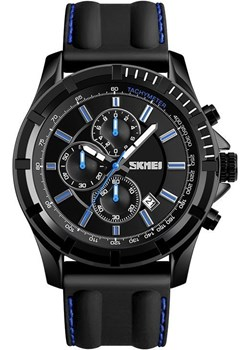 Zegarek męski SKMEI 1352 czarny STOPER data blue Skmei skmei.shop - kod rabatowy