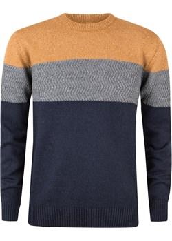 Sweter męski kolorowy dekolt okrągły promocja Evolution - kod rabatowy