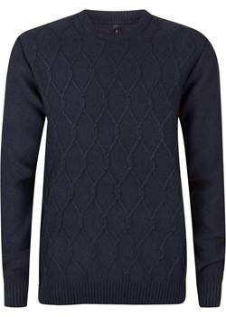 Sweter męski granatowy modny splot okazja Evolution - kod rabatowy