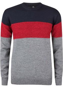 Sweter męski kolorowy dekolt okrągły Evolution promocyjna cena - kod rabatowy
