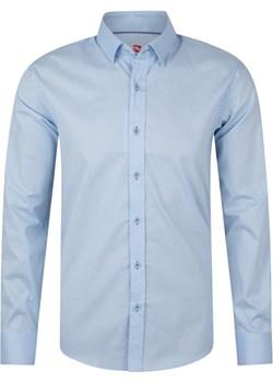 Koszula męska błękitna print okazja Evolution - kod rabatowy
