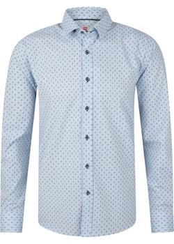 Koszula męska błękitna slim fit okazyjna cena Evolution - kod rabatowy