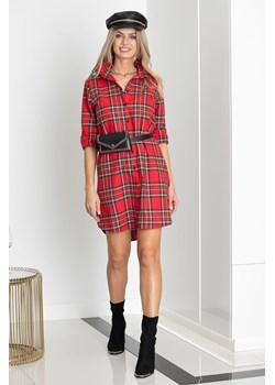 Sukienka FIRENZE w kratę red Maravilla Boutique Maravilla Boutique  - kod rabatowy