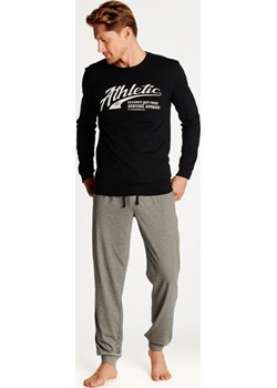 Bawełniana piżama męska Henderson 38376 Optimist czarna Henderson okazja bodyciao - kod rabatowy