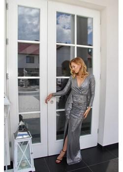 Suknia wieczorowa Penelopa Srebrna Rokado Rokado - kod rabatowy