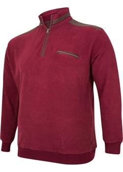 Bluza męska na zamek bordo Bigsize wyprzedaż BigSize - kod rabatowy